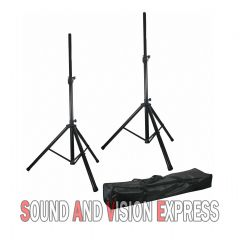 2 x Heavy Duty Speaker or Monitor Stand DJ PA Stands Max 120Kg Total Load + Bag